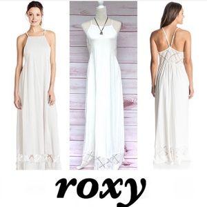 Roxy Crochet Panel  Maxi Dress L